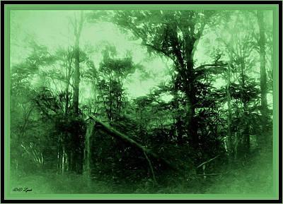 Framed Digital Art Mixed Media - Green Trees For Earth Day by Debra Lynch