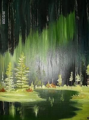 Green Trees Art Print by Terry Lash