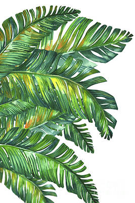 Green Tropic  Art Print by Mark Ashkenazi