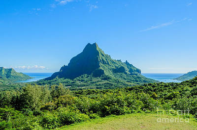 Photograph - Green Tropical Moorea Island by IPics Photography