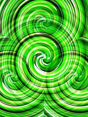 Photograph - Green Twister by Dietmar Scherf