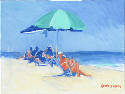 Painting - Green Umbrella, Folly Field by Candace Lovely