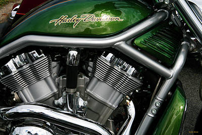Photograph - Green V-rod by Mark Alesse