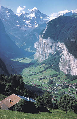 Olympic Sports - Green Valley in Switzerland by Carl Purcell