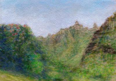 Green Valley Art Print by Kenneth Grzesik