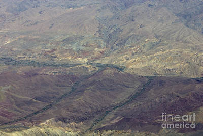 Green Valleys In Red Hills Art Print