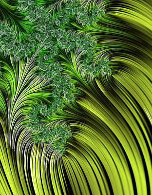 Digital Art - Green Vegetation Abstract by Georgiana Romanovna