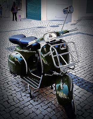 Photograph - Green Vespa by Dora Hathazi Mendes