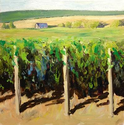 Napa Valley Vineyard Painting - Green Vineyards Of Napa by Wyn Ericson