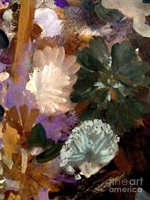Perhaps Painting - Green Violet And White by Nancy Kane Chapman