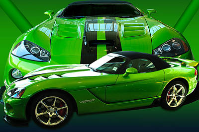 Green Viper Art Print by Jim  Hatch