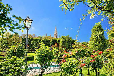Photograph - Green Volksgarten Park Of Vienna And City Hall View by Brch Photography