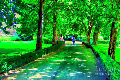 Photograph - Green Walkway by Rick Bragan