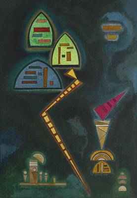 Kandinsky Mixed Media - Green by Celestial Images