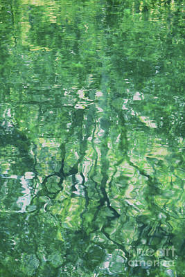Green Water Abstract Art Print by Carol Groenen
