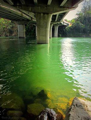 Photograph - Green Water Under Bonneview Bridge by Joyce Dickens