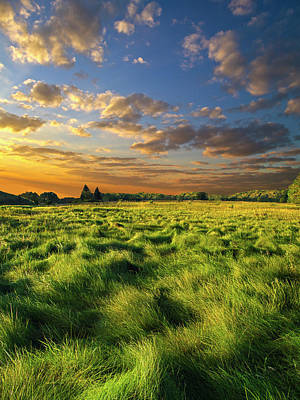 Environement Photograph - Green Waves by Phil Koch