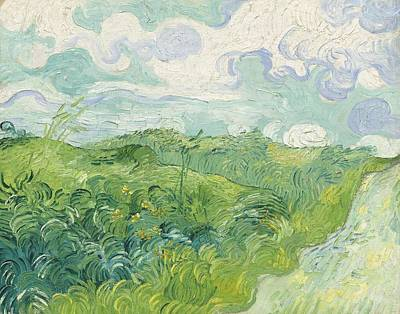 Painting - Green Wheat Fields, Auvers 4 by Artistic Panda