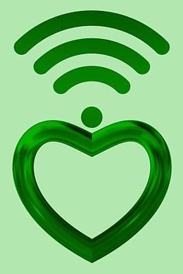Love Digital Art - Green Wifi Love by Alberto RuiZ