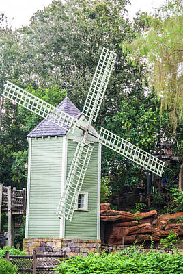 Photograph - Green Windmill by Pamela Williams