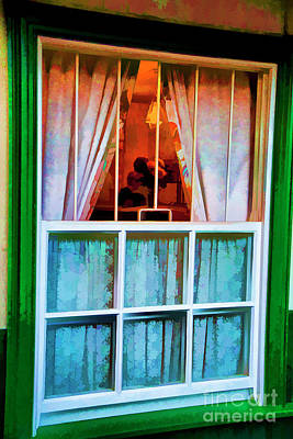 Photograph - Green Window by Rick Bragan