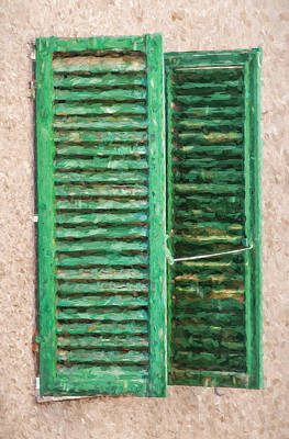 Painting - Green Window Shutters Of Tuscany by David Letts