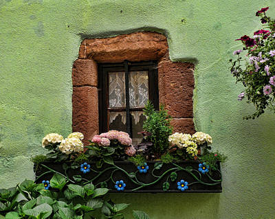 Photograph - Green Window by John Bushnell