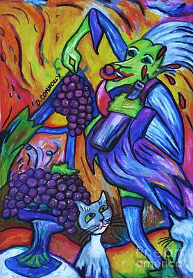 Pastel - Green Witch With Sour Grapes by Dianne  Connolly