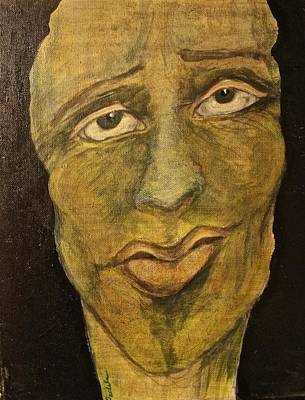 Badass Painting - Green With Envy by Dawn Pascale