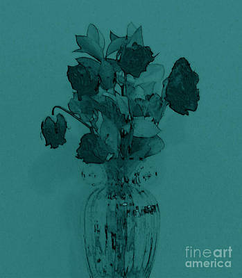 Green With Envy For Her Roses Original by Marsha Heiken