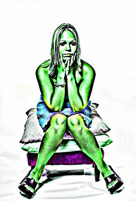 Photograph - Green Woman by Bob Pardue