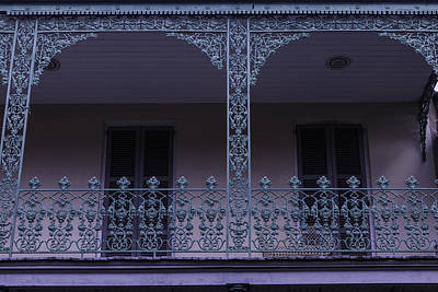 Photograph - Green Wrought Iron Rails by Garry Gay