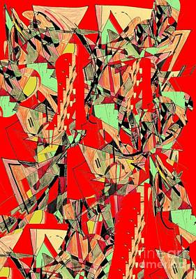 Digital Art - Green, Yellow And Red Triangles by Nancy Kane Chapman