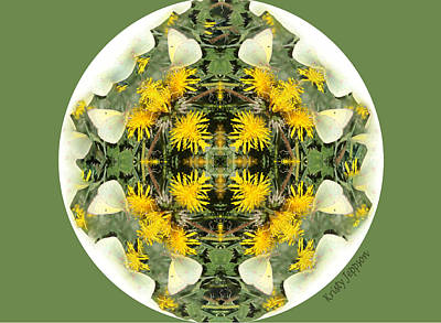 Photograph - Green Yellow Kaleidoscope by Kristy Jeppson