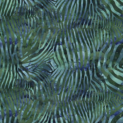 Painting - Green Zebra Print by Aloke Creative Store