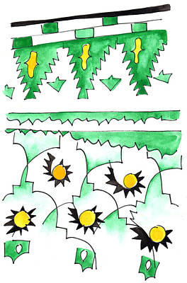 Painting - Green Zellij by Anna Elkins