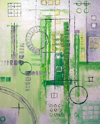 Painting - Green Zone by Jeremy Aiyadurai
