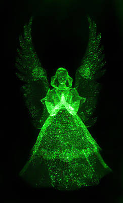 Dark Photograph - Green Angel by Shane Bechler