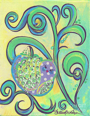 Painting - Greenbriar Birdy by Shelley Overton