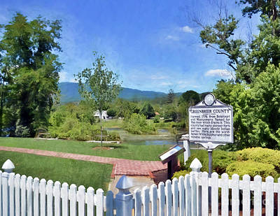 Photograph - Greenbrier County Historical Marker In Alderson West Virginia by Kerri Farley
