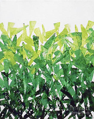 Greenery Gradation Art Print