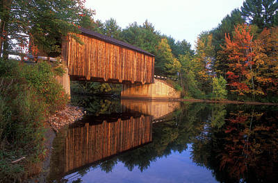 Photograph - Greenfield Nh Covered Bridge by John Burk