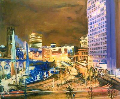 Greengate, Salford, Manchester At Night Art Print