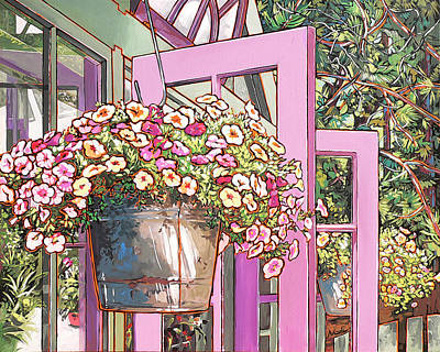Painting - Greenhouse Doors by Nadi Spencer