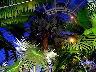 Digital Art - Greenhouse Glamour by Ed Weidman