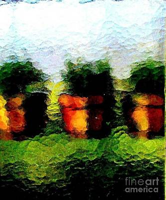 Photograph - Greenhouse Window by Helen  Campbell