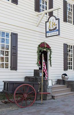 Historic Schooner Photograph - Greenhow Store Williamsburg by Teresa Mucha