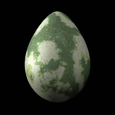 Greenish Egg Art Print