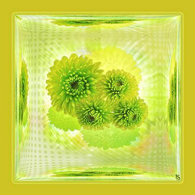 Lighting Effect Digital Art - Greenish by Li   van Saathoff