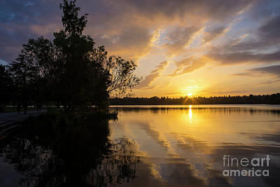 Photograph - Greenlake Dramatic Skies by Mike Reid